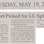 Cutright & Allen Selected for La Grange Splash Pad Project 2015